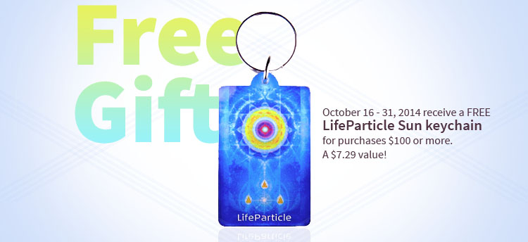 Receive a free LifeParticle Sun keychain