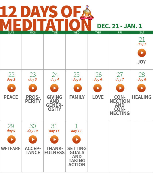12 Days of Meditation